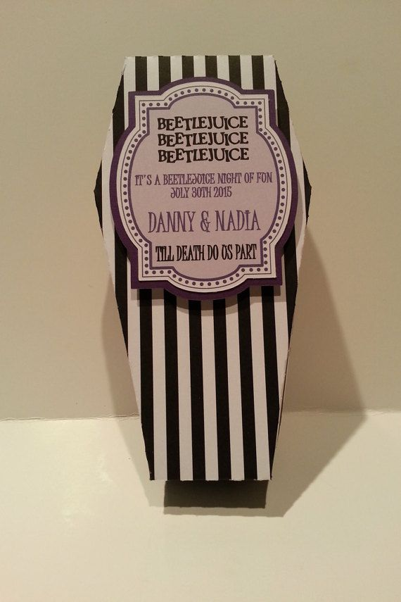 Beetlejuice Party Favors Coffins by Halloweenfunmom on Etsy