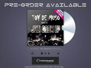 Toy De Muso : PRE-ORDER AVAILABLE FOR JOZI GQOM EP ON TRAXSOURCE...