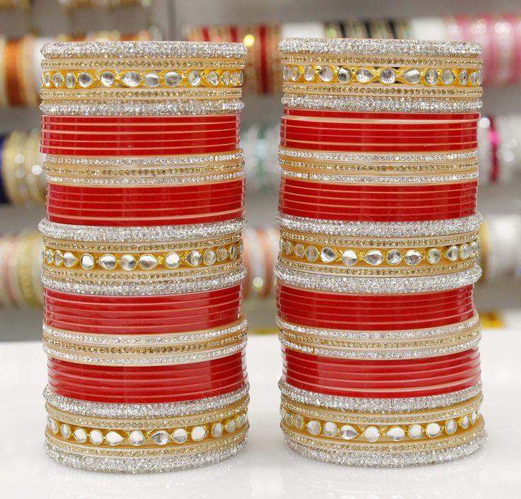 Beautiful Zarkan Kundan Chura. Website For Purchase : www.weddingchura.com Whatsapp For Purchase : +919416307694