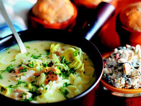 Kycklingsoppa med ris och citron | Recept.nu