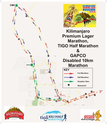 2017 Kilimanjaro Marathon Map