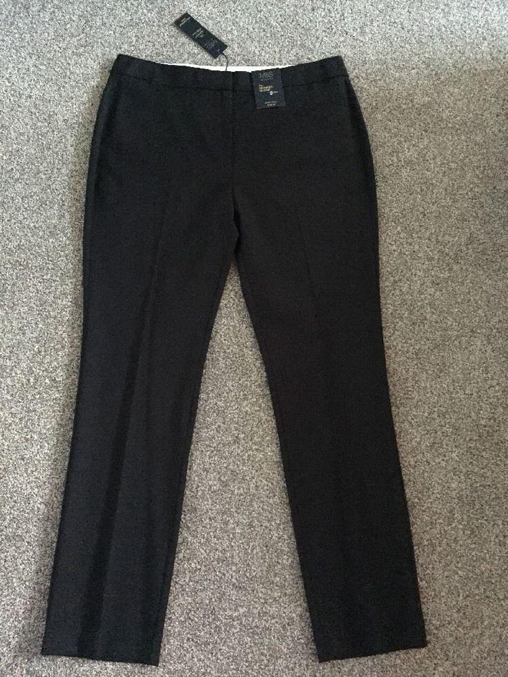 M&S Signature Collection PREMIUM WOOL  Ladies trousers UK14 EU42 Medium BNWT