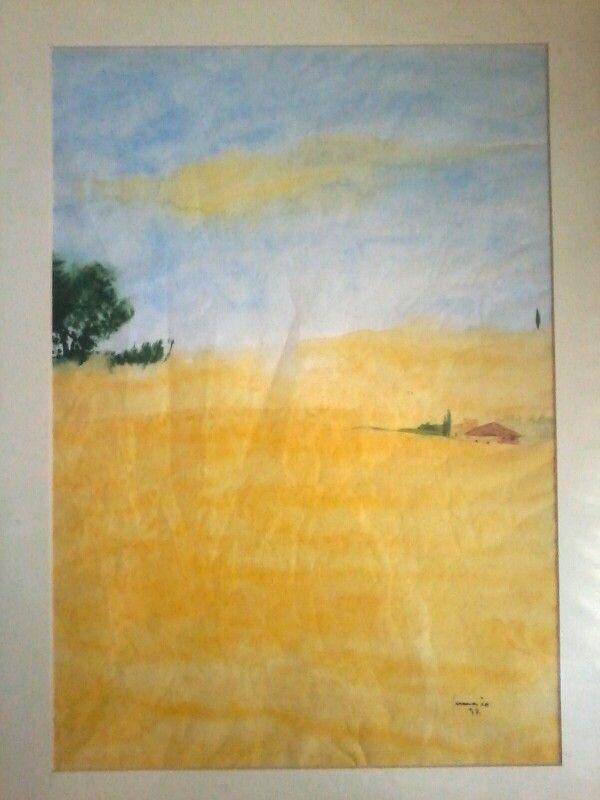 Immensi campi di grano.acq.su carta velina. 40x50