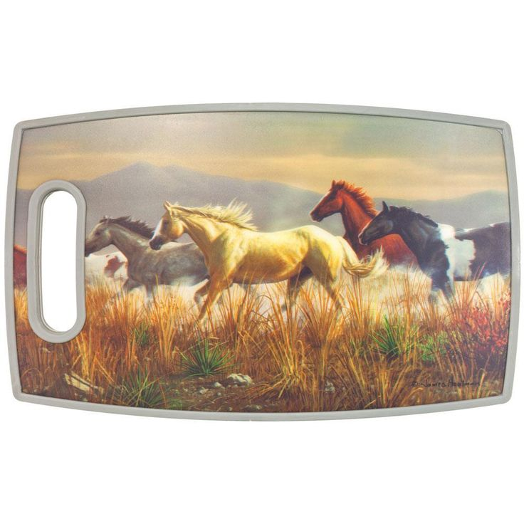 Horses Running In Plains PPE Plastic Cutting Board