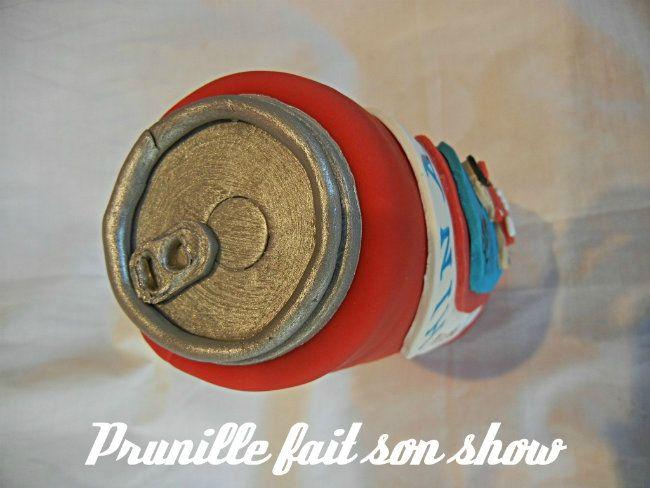 Gateau Hinano Tahiti - canette de bière en 3D
