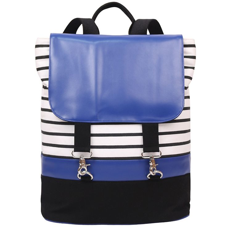 Stylish and trendy, this eye-catching piece of backpack made from canvas features a dog hook closure to complete your look, and allows you to carry all your stuffs in an organised manner.