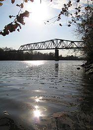 Hometown Whitesburg bridge crossing the Tennessee River, Huntsville, Al