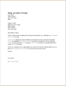 thank you letter to teacher download at httpwwwtemplateinncom