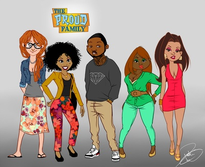 The Proud Family All Grown Up! LOL  Click for the descriptions.