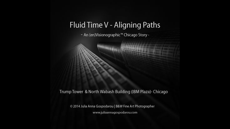 "The black and white fine art video tutorial - Fluid Time V is a ""making of"" tutorial about how I created the image Fluid Time V – Aligning Paths, where I present my vision for this image and for the series whose part it is, I analyze its composition and I make a general presentation of the way I processed it with my method Photography Drawing."
