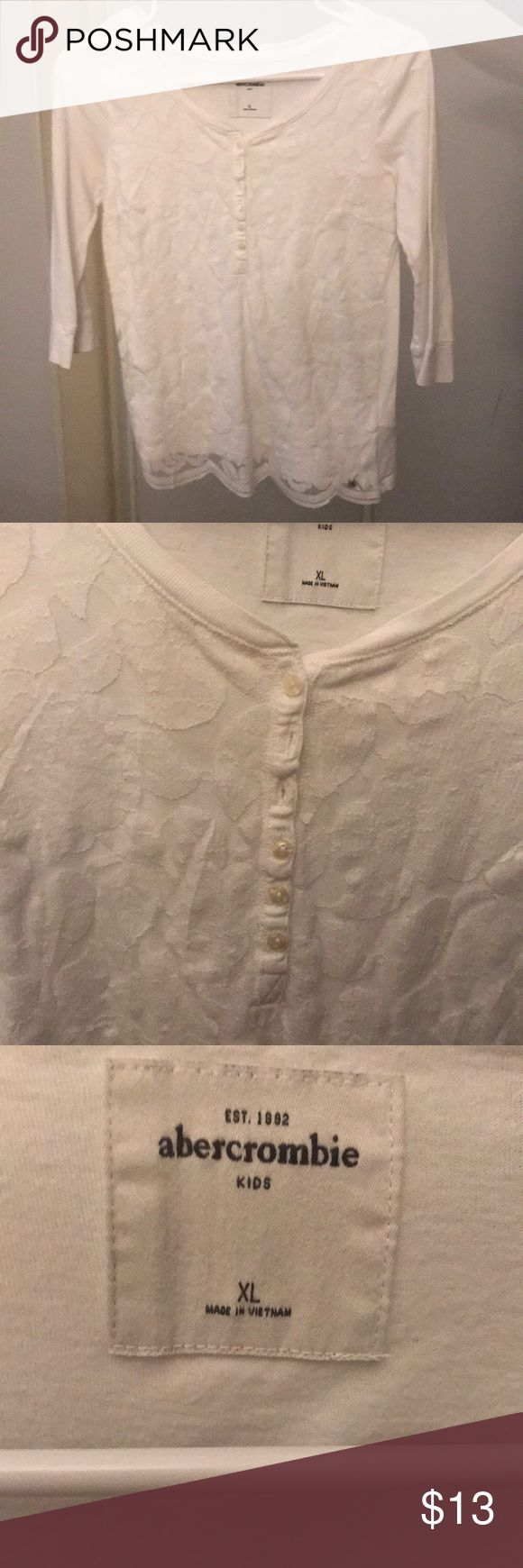 White Lace Blouse White Lace Blouse from Abercrombie kids XL abercrombie kids Shirts & Tops Blouses