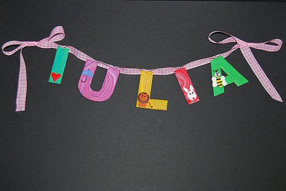 Custom name banner, girl name banner, baby shower decor, classroom banner, Nursery Decor, personalized name, photo prop, 1st birthday banner