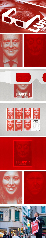 luff Les affiches rouges et terrifiantes du Lausanne Underground Film & Music Festival.