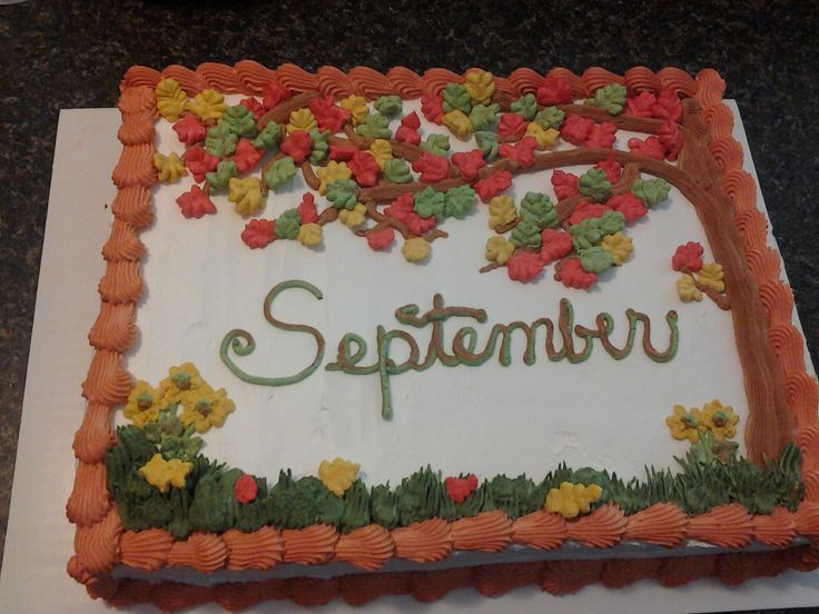- Chocolate cake with whipped icing for September B-days at school!