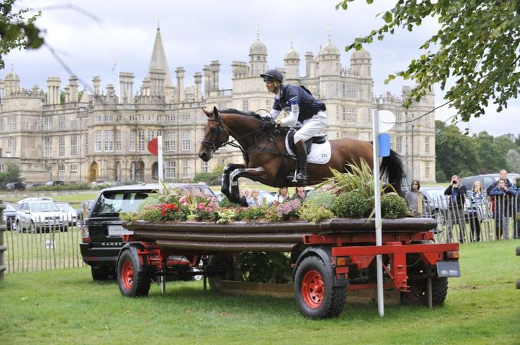 William Fox-Pitt in front of Burghley house ...