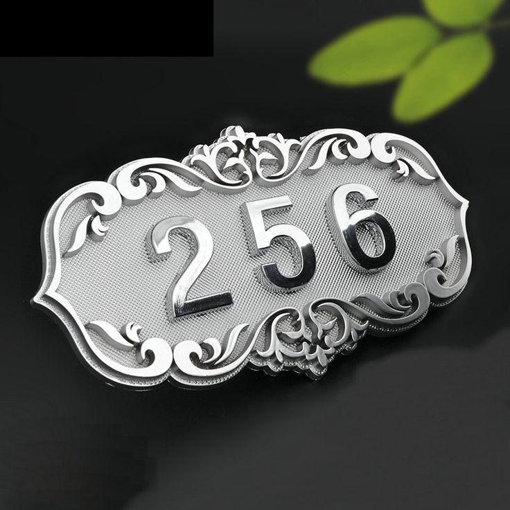 Número de Casa Porta De Sala em Estilo Europeu Clássico Brone Como ABS Feito Sob Medida 3 a 4 Números Personalizado Placa Da Porta Do Hotel Hotel