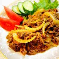 ✿牛肉と玉ねぎのカレーケチャップ炒め✿