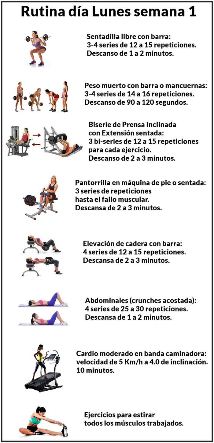 Pin En Rutina Gym