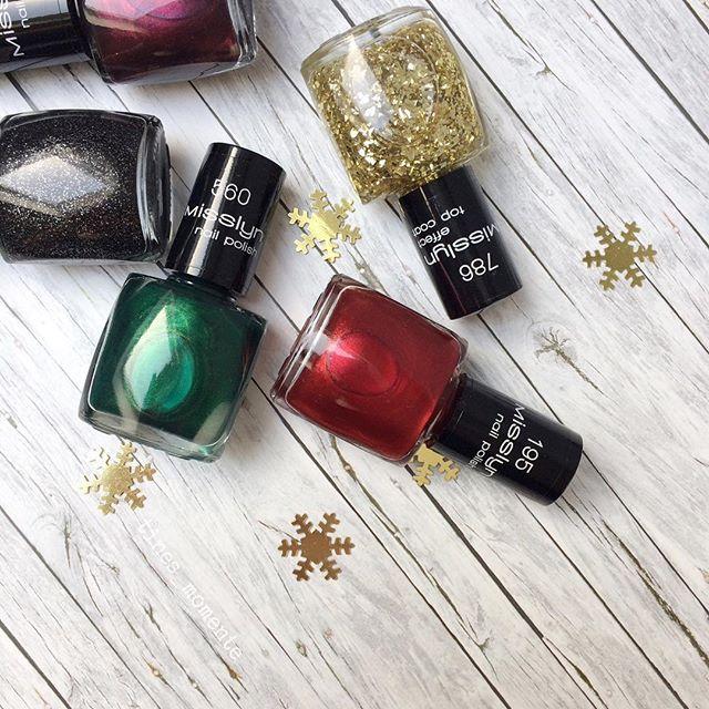 Vielen Dank an @misslyncosmetics für die tolle Weihnachts- und Silvesterpost 😍😍 die Farben machen total Lust darauf 🎄✨♥️⭐️🍾🎆🎉 #misslyn #prsample #winter #winterfarben #misslyncosmetics #weihnachtsfarben #silvester #winternailpolish #winternagenlacke #glitzer #ichfreumich #typisch #passend #weihnachten #misslynnailpolish #misslynnagellack #winter