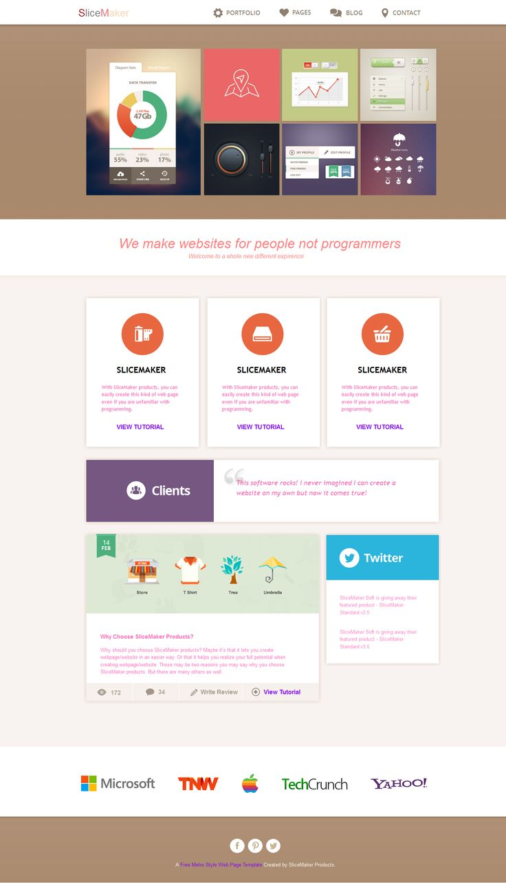 metro style website template