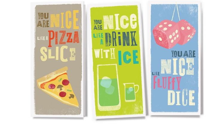 'You are Nice' greeting card set  www.theniceassociates.com.au