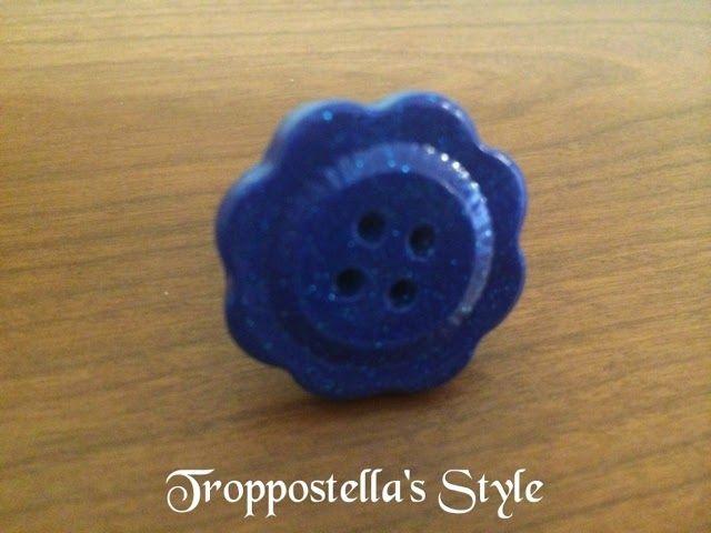 Troppostella's Style: Anello bottone in fimo