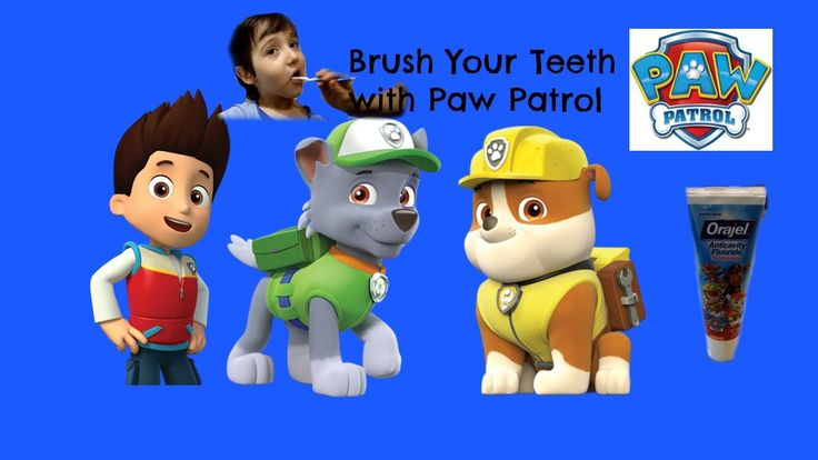 Paw Patrol -  Paw Patrol game - Brush your teeth!   Healthy teeth kids video! Learn how to brush your teeth and have fun!