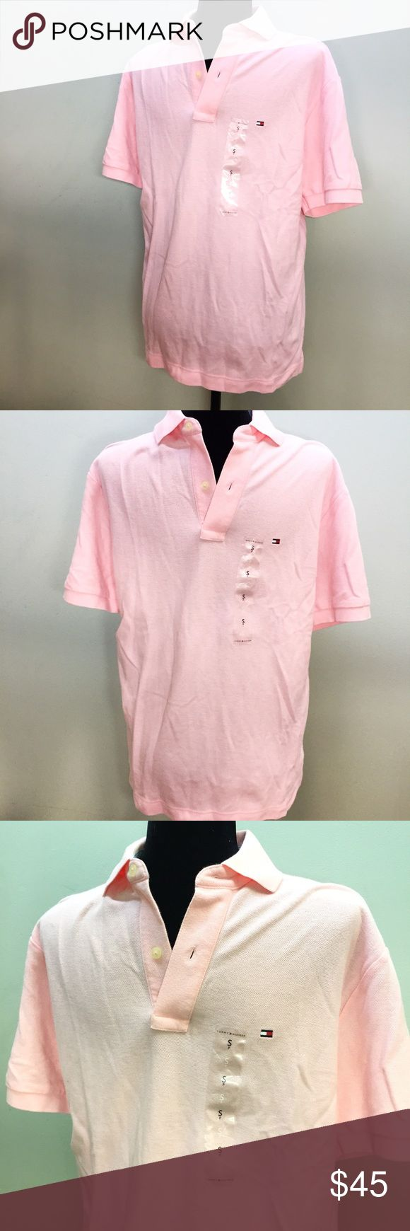 NEw men's small light pink polo shirt Brand new, never worn and still with tags. Men's size Small light pink polo dress shirt by Tommy Hilfiger. Tommy Hilfiger Shirts Polos