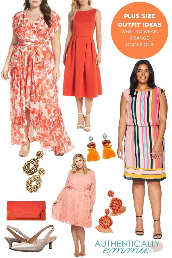 f7836a784a7 Plus size outfit ideas for a summer fundraiser featuring the color orange  from plus size blogger Authentically Emmie  plussize  ootd  style  psblogger
