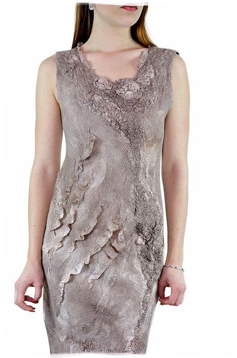 Nunofelted dress Vestido de nunofieltro Нуновойлочное платье