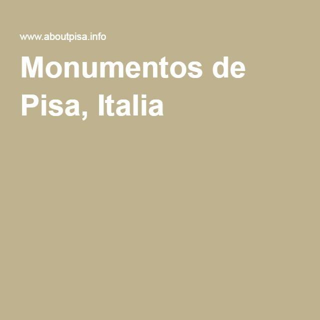 Monumentos de Pisa, Italia