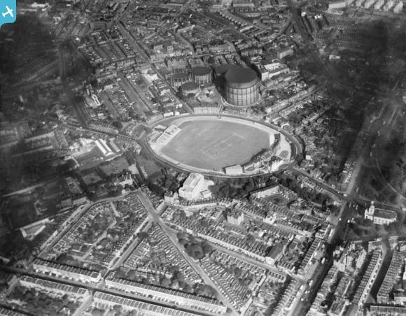 The Oval Cricket Ground and environs, Kennington, 1928