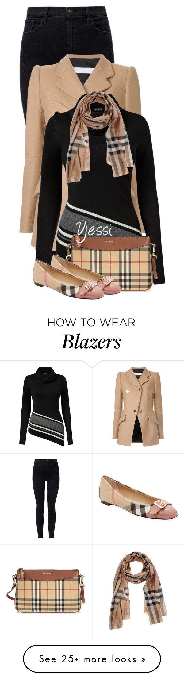 """~  Plaid Bag & Shoe  ~"" by pretty-fashion-designs on Polyvore featuring J Brand, Tamuna Ingorokva, Venus and Burberry"