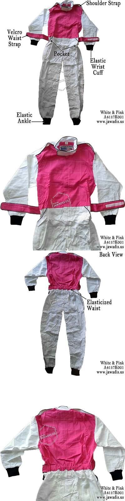 Clothing and Protective Gear 159029: Adult White And Pink Racing Overalls, Go Kart Clothing For Sale, Go Suits Racewear -> BUY IT NOW ONLY: $59.95 on eBay!