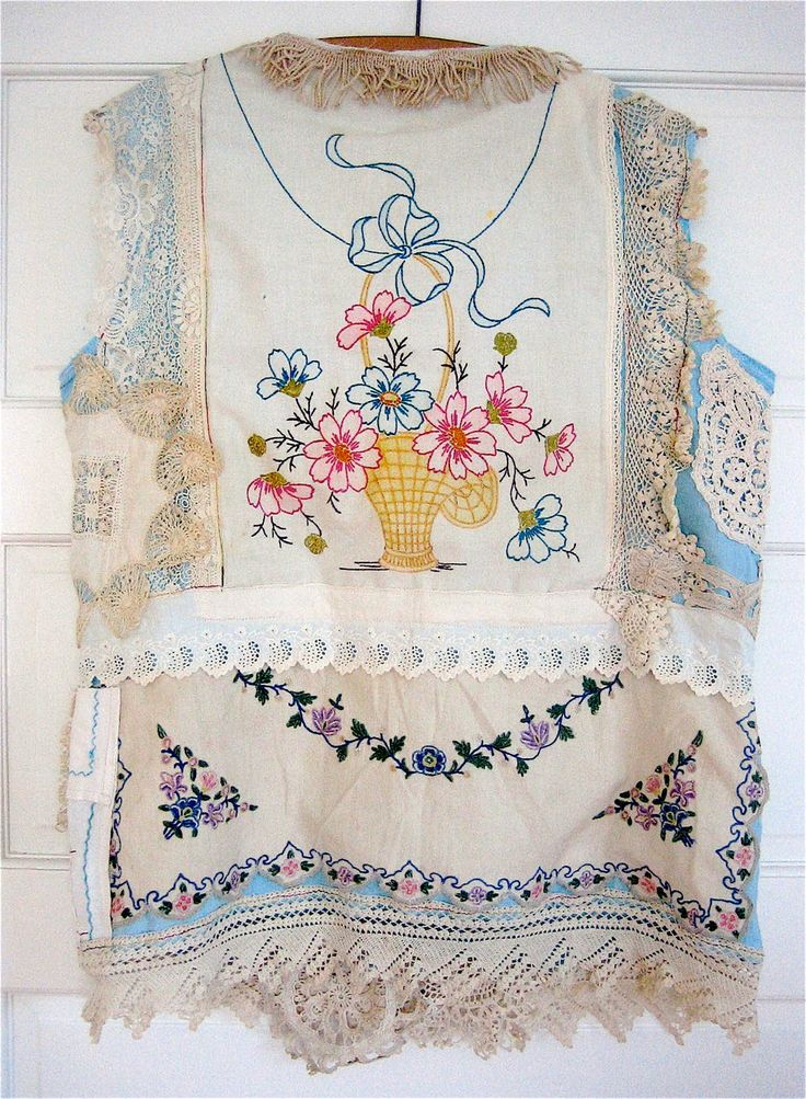 Antique Linens Eclectic ARTISAN Wearable Folk Art by MyBonny