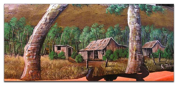 artwork by steve johns     a mossman based artist who paints traditional australian outback