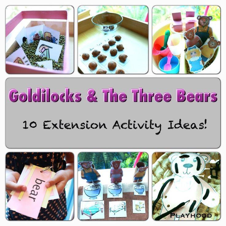 10 Activity Ideas for Goldilocks And The Three Bears!