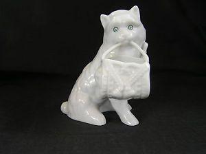 Vista Alegre for Mottahedeh Porcelain Cat Figurine Portugal Nice   eBay