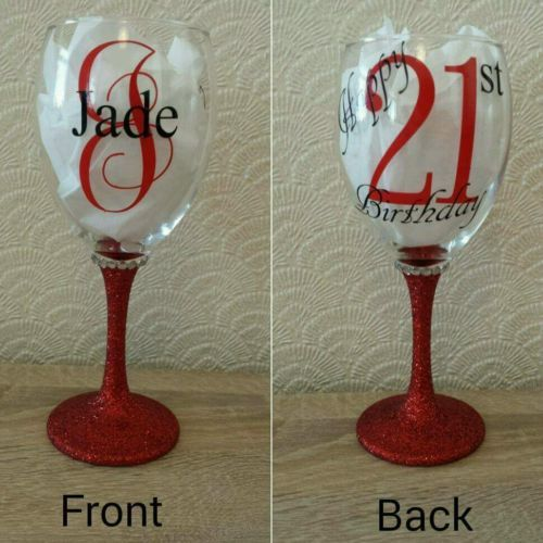 Personalised Glitter wine glass great for birthdays 18th, 21st, 30th, 50th, 60th | Other Celebrations & Occasions | Celebrations & Occasions - Zeppy.io