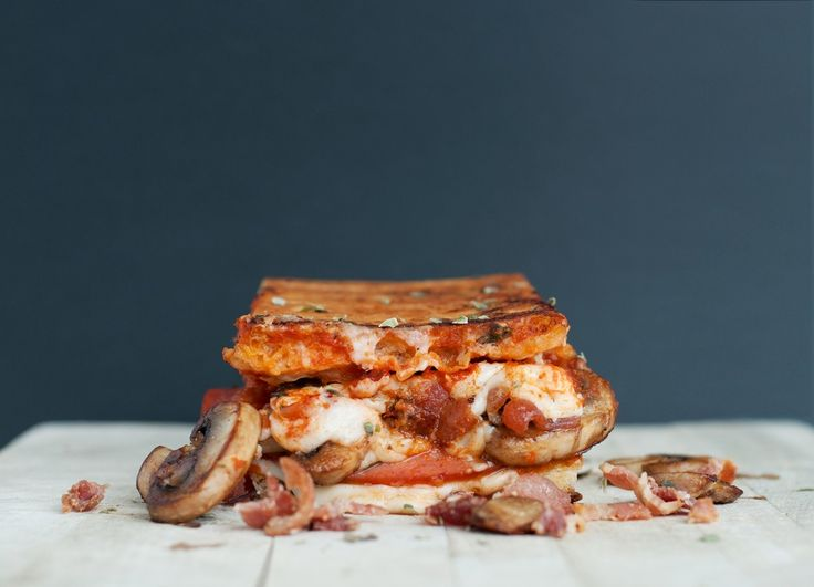 """""""The Canadian"""" Pizza Grilled Cheese 