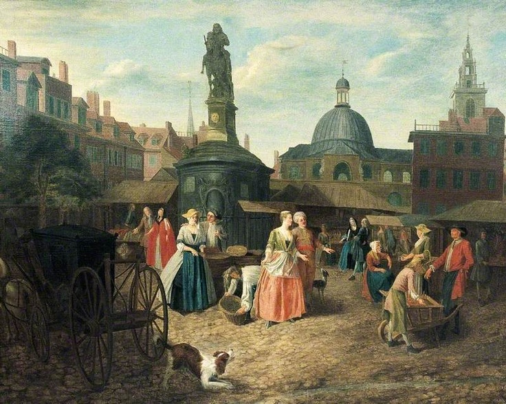 The Old Stocks Market by Joseph van Aken, 1725. Bank of England Museum