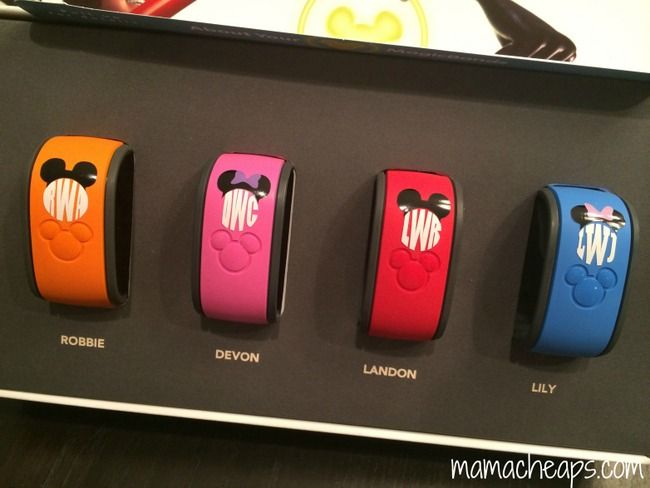Silhouette Portrait Project: Personalized Disney World Magic Band Monograms