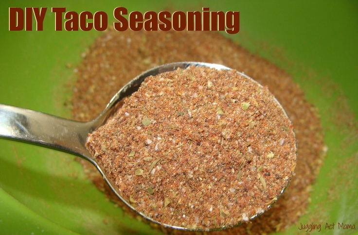 Juggling Act: Homemade Mild Taco Seasoning with printable labels