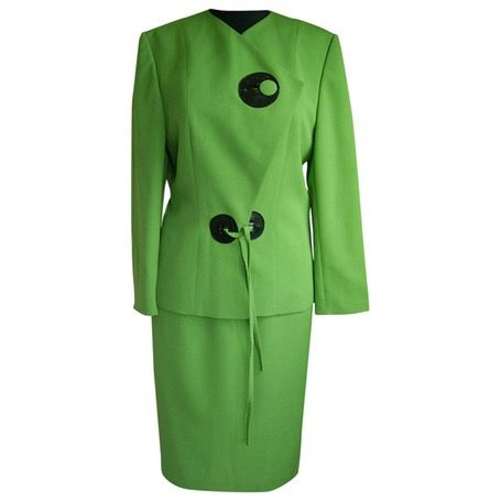 I am selling this vibrant classic Pierre Cardin skirt suit on Vestiare Collective