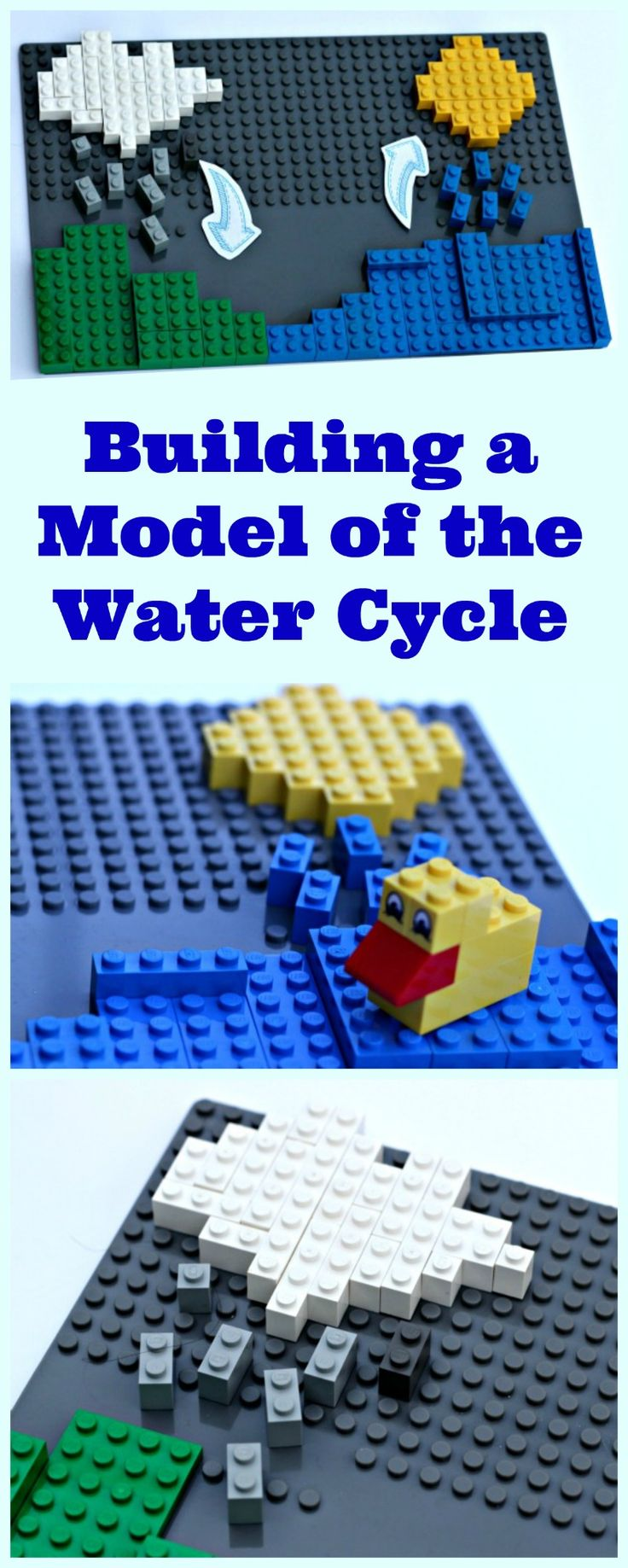 The Water Cycle: an easy science project for kids | LEGO science activity & model | elementary & middle school project
