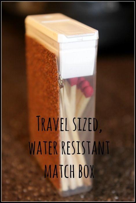 DIY Travel Size, Water Resistant Match Box | DiscountQueens.com