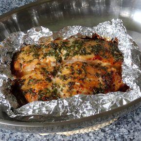 Lachs aus dem Ofen mit Honigkräuterkruste und Porree - Möhren - Curry   Chefkoch.de