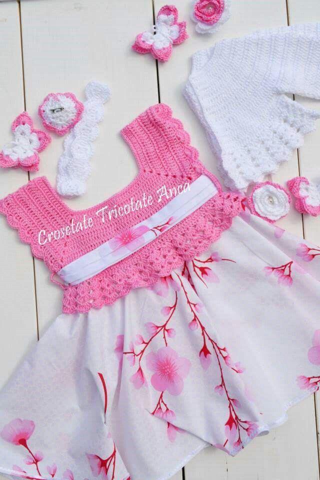 Vestido crochet Rosa
