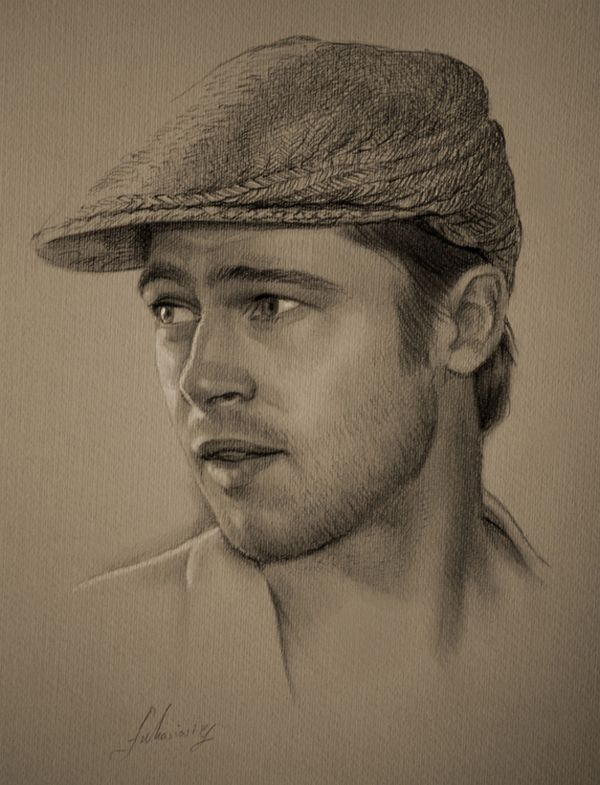 Very simple drawing of Brad Pitt!!!  The artist catches the unique expressions perfectly!!!