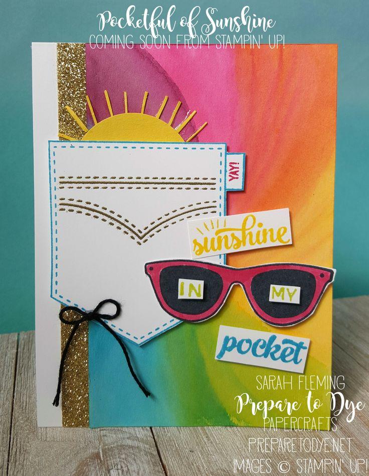 Coming Soon! Stampin' Up! Pocketful of Sunshine - Sunshine in my pocket - Trolls - Justin Timberlake - Sarah Fleming - Prepare to Dye Papercrafts